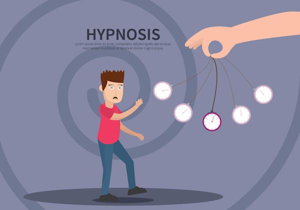 Funny hypnotherapy image - in cartoon format